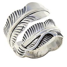 Chaco Canyon Sterling Silver Adjustable Feather Ring