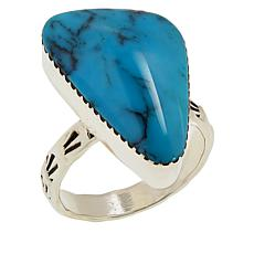 Chaco Canyon Sterling Silver Freeform Gem Contemporary Ring