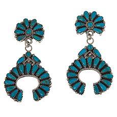 Chaco Canyon Sterling Silver Gemstone Naja Drop Earrings