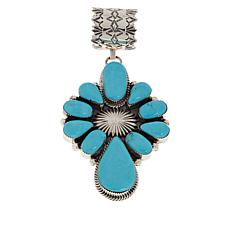 Chaco Canyon Sterling Silver Kingman Turquoise Cluster Pendant
