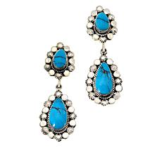 Chaco Canyon Sterling Silver Kingman Turquoise Drop Earrings