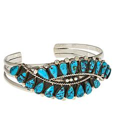 Chaco Canyon Sterling Silver Kingman Turquoise Third Eye Cuff