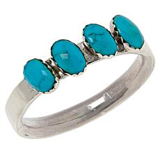 Chaco Canyon Zuni Kingman Turquoise Oval Stone Band Ring