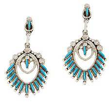 Chaco Canyon Zuni Sleeping Beauty Turquoise Chandelier Drop Earrings