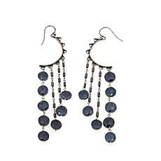 Chan Luu Black Spinel Beaded Dangle Earrings