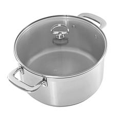 Chantal Induction 21 Steel 6-Quart Casserole with Glass Lid