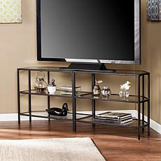 Charice Metal Glass Corner-Optional TV Stand