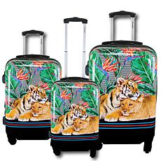 Chariot 3-piece Hardside Luggage Set - Mod Tiger