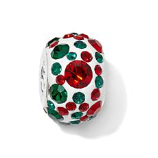 Charming Silver Inspirations Red/Green Crystal Charm