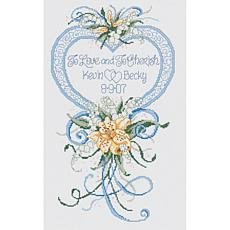Cherish Wedding Heart Counted Cross Stitch Kit 14 Count
