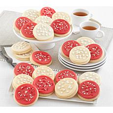 Cheryl's 24-peice Red and White Cut Out Cookies