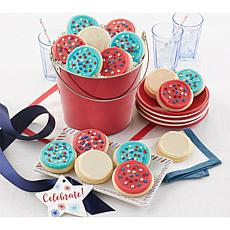 Cheryl's Patriotic Red Pail with Cutouts
