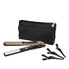 CHI Metallic Black Smart GEMZ Volumizing Hairstyling Iron, Clips & Bag