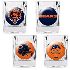 Chicago Bears 4pc Collector's Shot Glass Set
