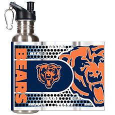 Chicago Bears Stainless Steel Water Bottle with Metallic Graphics