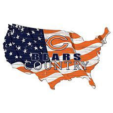 Chicago Bears USA Shape Flag Cutout
