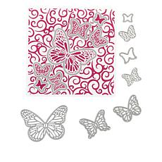 Chloe Butterfly Trails Cut and Emboss Folder with Dies