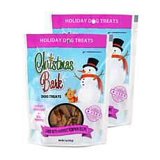 Christmas Bark Lamb with Harvest Pumpkin Recipe Dog Treats 2 Pack 5 oz