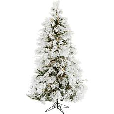 Christmas Time 6.5' Frosted Fir Artificial Christmas Tree, SmartLights