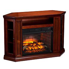 Claremont Convertible Media Infrared Fireplace - Brown Mahogany