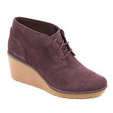 Clarks Hazen Charm Suede Lace-Up Wedge Bootie