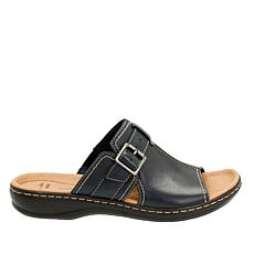 Clarks Leisa Gianna Leather Slip-On Sandal