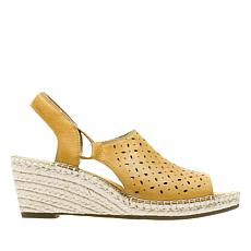 Clarks Petrina Gail Leather Wedge Espadrille Sandal