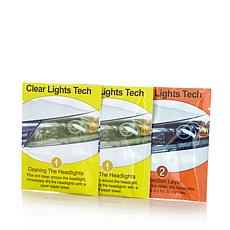 Clear Lights Tech 2-pack Headlight Restore Wipes