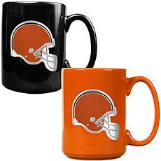 Cleveland Browns 2pc Coffee Mug Set