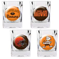 Cleveland Browns 4pc Collector's Shot Glass Set