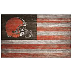 Cleveland Browns Distressed Flag 11x19