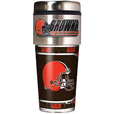 Cleveland Browns Travel Tumbler w/ Metallic Graphics and Team Logo