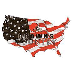 Cleveland Browns USA Shape Flag Cutout