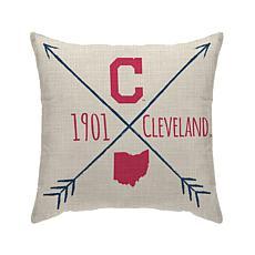 "Cleveland Indians 18""X18"" Duck Cloth  Décor Pillow"