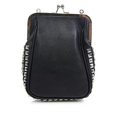 Clever Carriage Framed Studded Leather Pouch