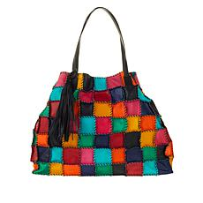 Clever Carriage Handwhipstitched Leather Shopper