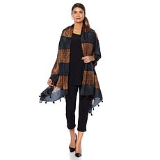 Clever Carriage Knit Print Silk Scarf