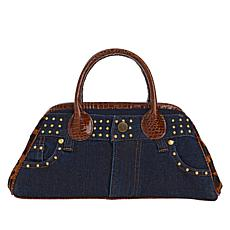 Clever Carriage Vintage Denim Petite Satchel with Studs