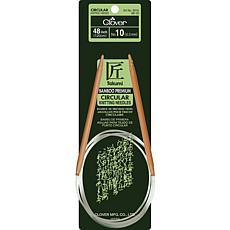 """Clover 48"""" Bamboo Circular Needles - Size 10/6mm"""