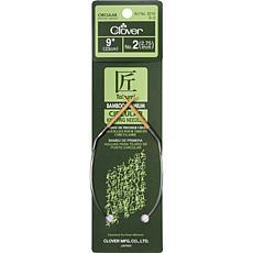 """Clover 9"""" Bamboo Circular Needles - Size 2/2.75mm"""