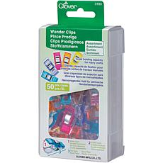 Clover Wonder Clips, Assorted Colors 50-Pack