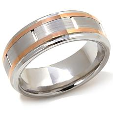 Cobalt 2-Tone 8mm Wedding Band