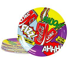 "Coca-Cola 90s Pop 10.5"" Melamine Dinner Plate"