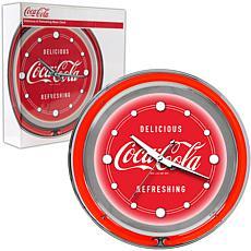 """Coca-Cola """"Delicious Refreshing"""" Neon Clock"""