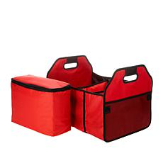 Collapsible Trunk Organizer with Insulated Cooler