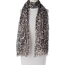 Collection 18 Leopard-Print Scarf Wrap