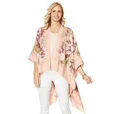 Collection 18 Rose Super-Soft Ruana Wrap