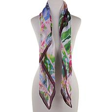Collection 18 Watercolor Floral-Print Square Scarf