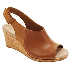 Collection by Clarks Lafley Jess Leather and Suede Wedge Sandal