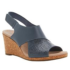 Collection by Clarks Lafley Joy Leather Cork Wedge Sandal